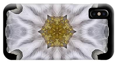 White Beach Rose I Flower Mandala IPhone Case