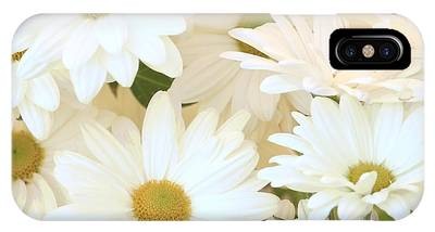 IPhone Case featuring the photograph White Chrysanthemums by Richard J Thompson