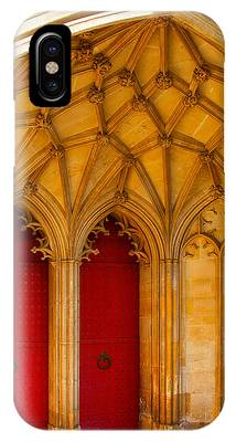 Winchester Cathedral Archway - Mike Hope IPhone Case