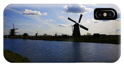 IPhone Case featuring the photograph Windmills  At Twilight by Richard J Thompson