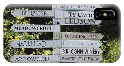 Winery Street Sign In The Sonoma California Wine Country 5d24601 Square IPhone Case