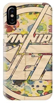 Winnipeg Jets Hockey Art IPhone Case by Florian Rodarte