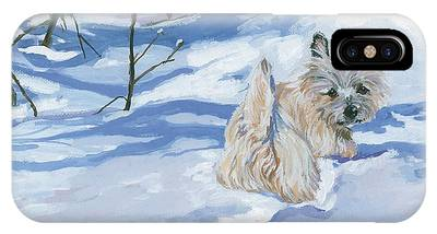 Dogs In Snow Phone Cases