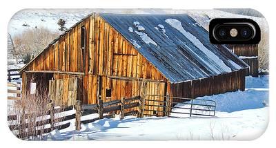 Wintering Range Barn IPhone Case