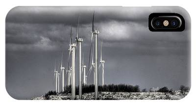 Wintry Windmills IPhone Case