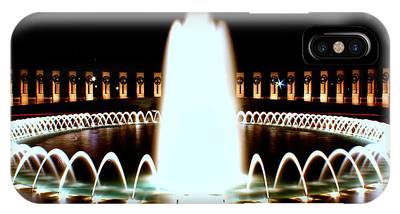 World War II Memorial And Fountain At Night IPhone Case