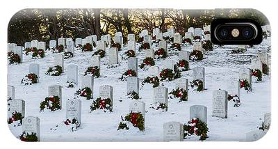 Wreaths At Arlington National Cemetery IPhone Case