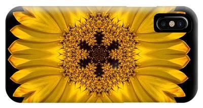 Yellow African Daisy Flower Mandala IPhone Case