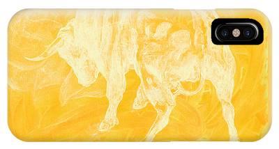 Yellow Bull Negative IPhone Case