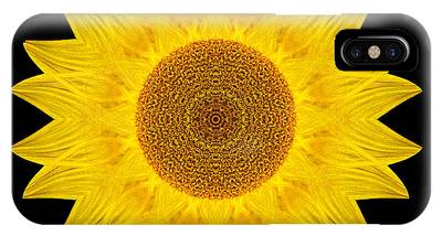 Yellow Sunflower Ix Flower Mandala IPhone Case