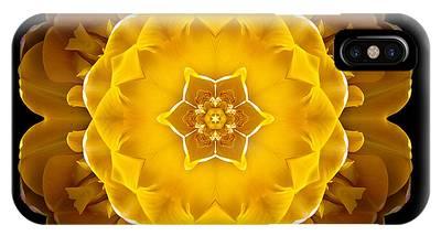 Yellow Tulip II Flower Mandala IPhone Case