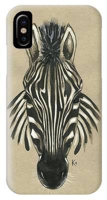 Zebra Front IPhone Case