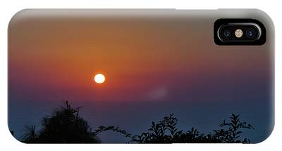 IPhone Case featuring the photograph Sunset Over The Sea by Michael Goyberg