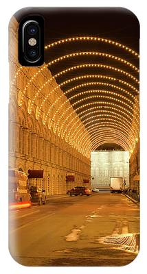 IPhone Case featuring the photograph Red Square In Moscow At Night by Michael Goyberg