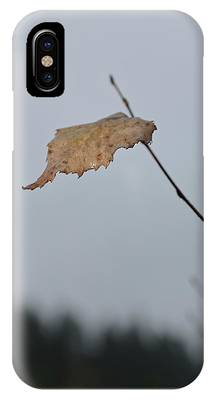 IPhone Case featuring the photograph A Lonely Leaf by Michael Goyberg
