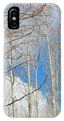 Cloudy Aspen Sky IPhone Case