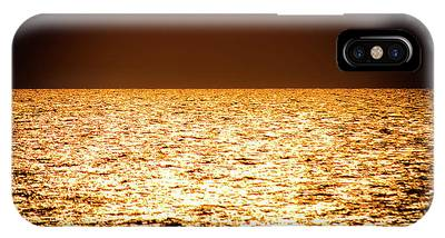 IPhone Case featuring the photograph Fiery Sunset Over The Sea by Michael Goyberg