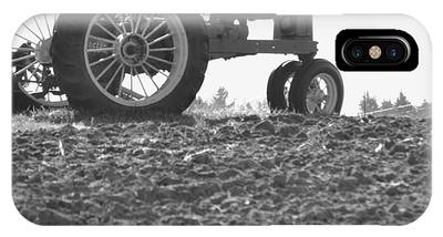 Old Tractor II In Black-and-white IPhone Case