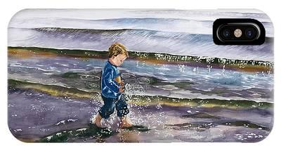 Little Boy In Tide Phone Cases