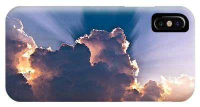 Sun Rays And Clouds IPhone Case