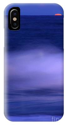 The Red Moon And The Sea IPhone Case