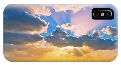 IPhone Case featuring the photograph The Sea In The Sunset by Michael Goyberg
