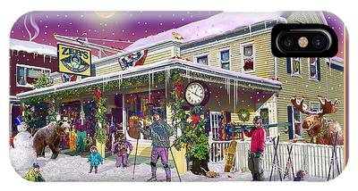 Winter At Zebs General Store In North Conway Nh IPhone Case