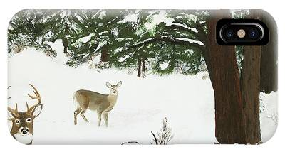 Wintering Whitetails IPhone Case