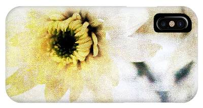 Flower Mixed Media iPhone Cases