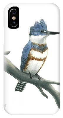 Belted Kingfisher Phone Cases