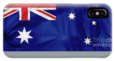 IPhone Case featuring the digital art Flag Of Australia by Benny Marty