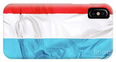 IPhone Case featuring the digital art Flag Of Luxembourg by Benny Marty