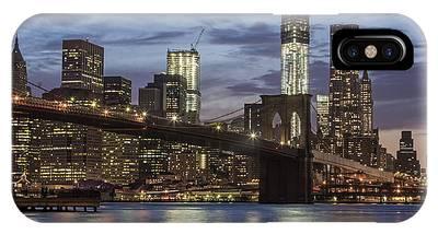 IPhone Case featuring the photograph Manhattan Skyline New York by Juergen Held
