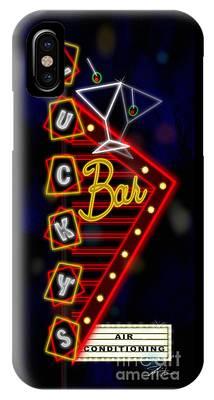 Nightclub Sign Luckys Bar IPhone Case