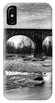 Thomas Viaduct In Black And White IPhone Case by Dennis Dame