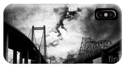 Two Bridges One Moon IPhone Case