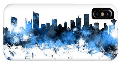 Vancouver Skyline Digital Art iPhone Cases