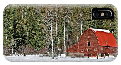 IPhone Case featuring the photograph Winter Barn by Ronnie and Frances Howard