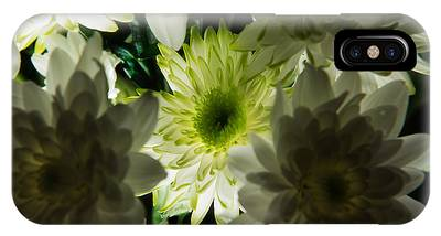 IPhone Case featuring the photograph Backlit White Dahlia by Dennis Dame