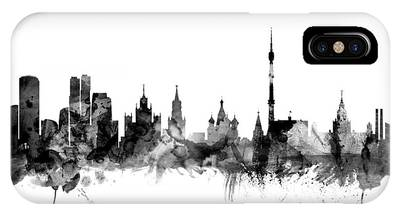 Moscow Skyline Phone Cases