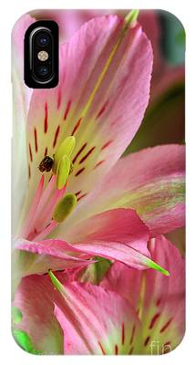 IPhone Case featuring the photograph Peruvian Lilies In Bloom by Richard J Thompson