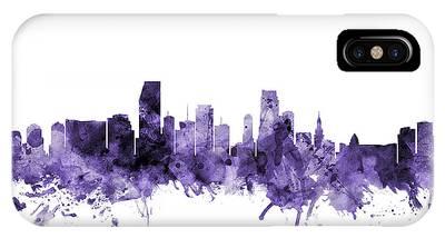 Miami Skyline Phone Cases
