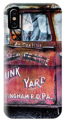 A Beautiful Rusty Old Tow Truck IPhone Case by Dennis Dame