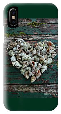IPhone Case featuring the photograph A Heart Made Of Shells by Patricia Strand