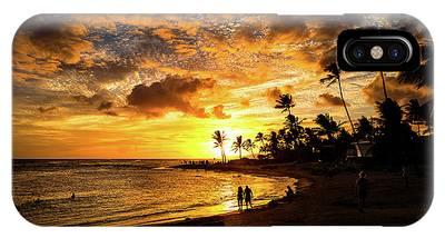 A Walk On The Beach IPhone Case