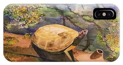 Nature Center Pond Paintings iPhone Cases
