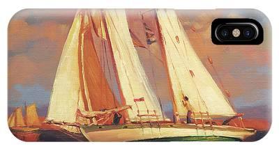 Sailboat Sunset Phone Cases