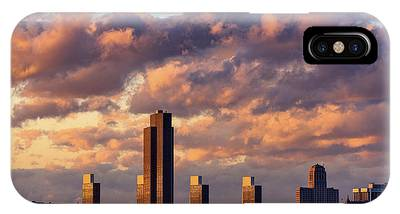 IPhone Case featuring the photograph Albany Sunset Skyline by Brad Wenskoski