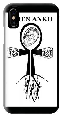 Amen Ankh Bw IPhone Case