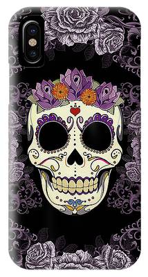 Purple Digital Art iPhone Cases